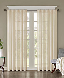 """Madison Park Harper 42"""" x 95"""" Solid Crushed Window Panel Pair"""
