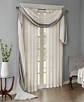 Madison Park Harper Solid Crushed Window Treatment Collection