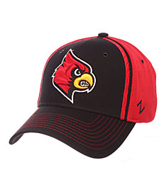 Zephyr Louisville Cardinals Pattern Pipe Stretch Cap