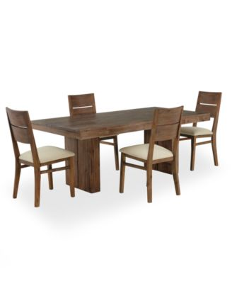 CLOSEOUT! Champagne Dining Room Furniture, 5 Piece Set, Created for Macy's, (Dining Trestle Table & 4 Side Chairs)