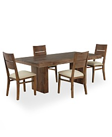 Furniture CLOSEOUT Champagne Dining Room Furniture Piece Set - Macy's champagne dining table