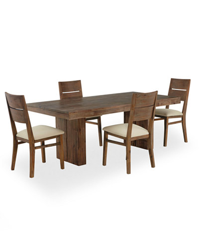 Champagne Dining Room Furniture  5 Piece Set  Created for Macy s   Dining  Trestle. Champagne Dining Room Furniture  5 Piece Set  Created for Macy s