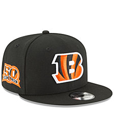 New Era Cincinnati Bengals Anniversary Patch 9FIFTY Snapback Cap