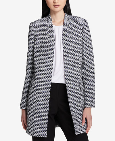 Calvin Klein Bouclé Tweed Topper Jacket, Regular & Petite
