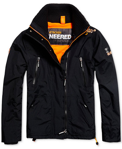 Superdry Men's Polar SD Wind Attacker Fleece-Lined Jacket - Coats ...