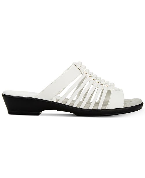 6631912455bf Easy Street Nola Slide Sandals   Reviews - Ladies Shoes - SLP - Macy s