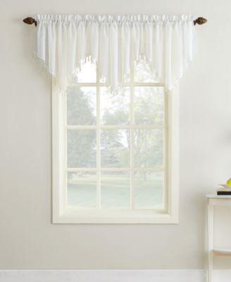 "No. 918 Crushed Sheer Voile 51"" x 24"" Ascot Valance"