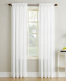 "Crushed Sheer Voile 51"" x 63"" Curtain Panel"