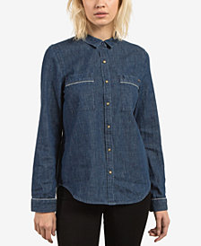 Volcom Juniors' Cotton Denim Shirt
