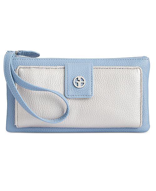 Giani Bernini Colorblock Softy Leather Grab & Go Wristlet, Created for Macy's