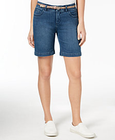 Lee Platinum Bradbury Belted Denim Shorts