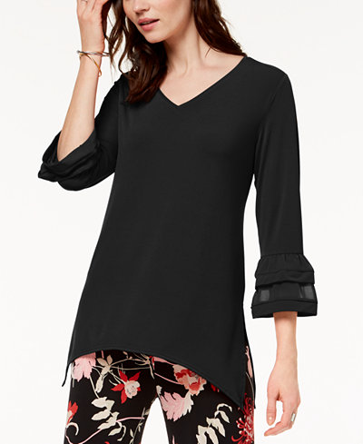 Alfani Bell-Sleeve Swing Top, Created for Macy's