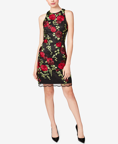 Betsey Johnson Embroidered Racerback Dress