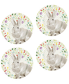 Martha Stewart Collection Set Of 4 Bunny Plates, Created for Macy's