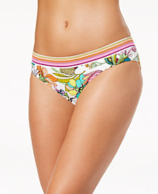Trina Turk Key West Botanical Printed Hipster Bikini Bottoms