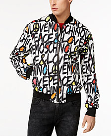 Love Moschino Men's Graphic-Print Bomber Jacket