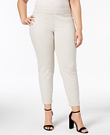 Charter Club Plus Size Pull-On Skinny Ankle Pants, Created for Macy's