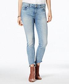 DL1961 Margaux Mid Rise Instascuplt Skinny Frayed-Hem Jeans