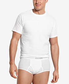 Hanes Men's Platinum FreshIQ™ Underwear,5 Pack Crew Neck Undershirts