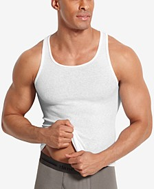 Men's Big & Tall 4-Pk. A-Line Cotton Tank Undershirts