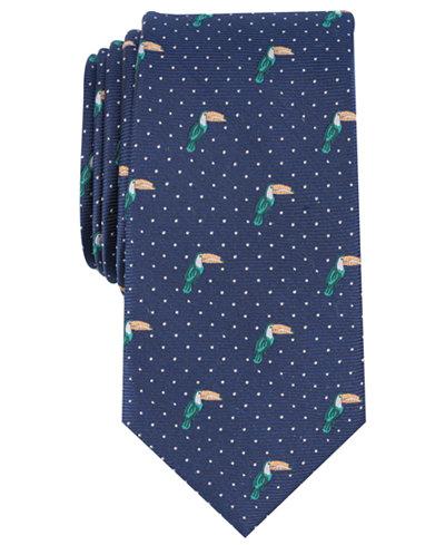 Bar III Men's Toucan Conversational Skinny Tie, Created for Macy's