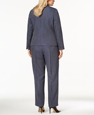 Le Suit Plus Size Denim Pantsuit Wear To Work Women Macy S