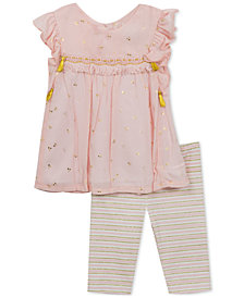 Rare Editions 2-Pc. Tunic & Leggings Set, Baby Girls