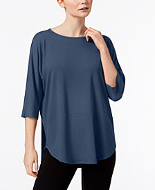 Eileen Fisher Stretch Jersey Boat-Neck High-Low Tunic, Created for Macy's