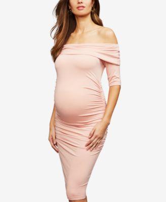 Isabella Oliver Maternity Off The Shoulder Sheath Dress