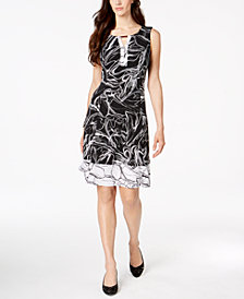 JM Collection Petite Sleeveless A-Line Dress, Created for Macy's