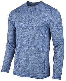 Greg Norman for Tasso Elba Men's Long-Sleeve Heathered Tech T-Shirt, Created for Macy's