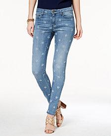 MICHAEL Michael Kors Petite Dot-Print Skinny Jeans