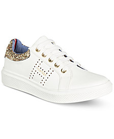 Tommy Hilfiger Glam Baseline Glitter Sneakers, Little Girls & Big Girls