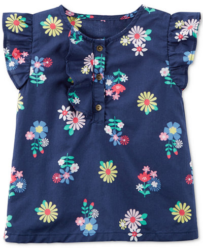 Carter's Floral-Print Cotton Top, Toddler Girls