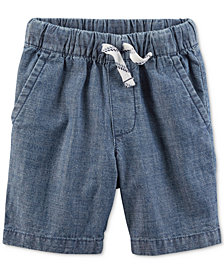 Carter's Little Boys Woven Cotton Chambray Shorts