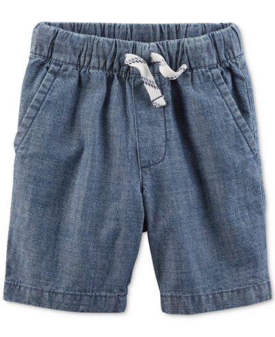Carter's Toddler Boys Woven Cotton Chambray Shorts