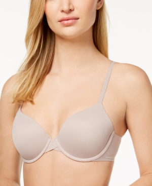 8d8b29bec7 Calvin Klein Perfectly Fit Full Coverage T-Shirt Bra F3837 In Fresh Taupe