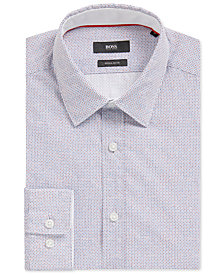 BOSS Men's Regular/Classic-Fit Dotted Cotton Sport Shirt