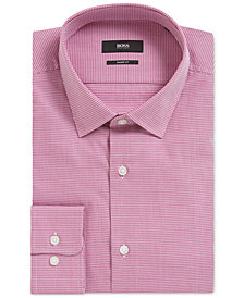 BOSS Men's Slim-Fit Nailhead Cotton Dress Shirt