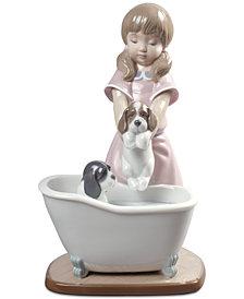 Lladró Bathing My Puppies Figurine