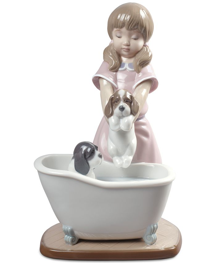 Lladró - Bathing My Puppies Figurine