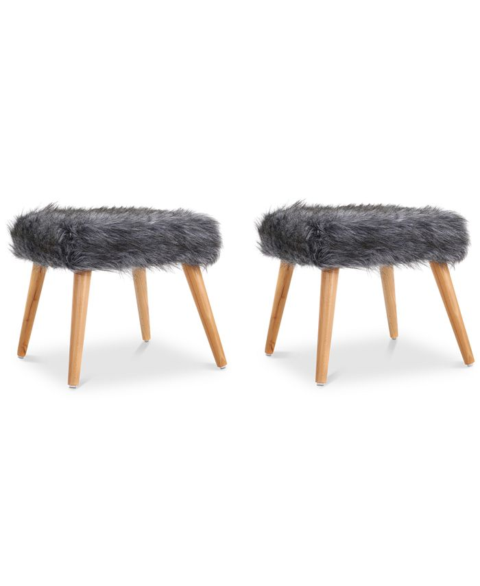 Noble House - Lucee Ottoman (Set Of 2), Quick Ship