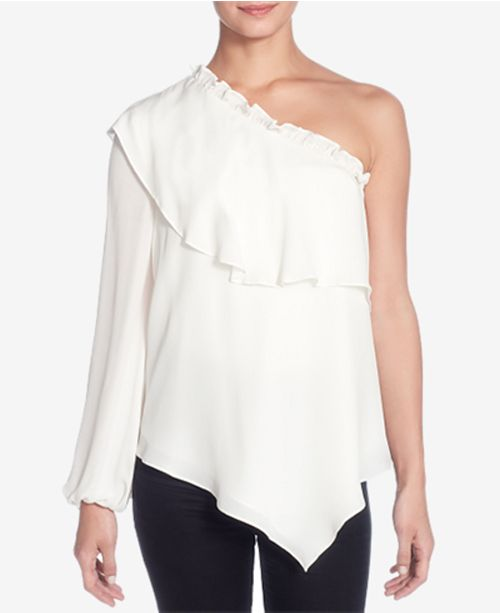 601d773777d Catherine Malandrino Thelda Silk One-Shoulder Top & Reviews - Tops ...