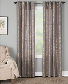 Miller Curtains Dana Botanical Metallic-Print Window Panels