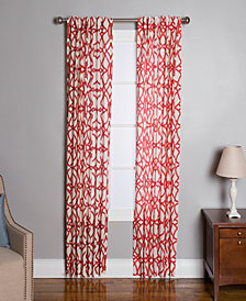 "Miller Curtains Othello Cotton 50"" x 95"" Geo-Print Twill Window Panel"