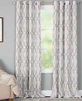 Miller Curtains Alain Geo-Print Energy-Efficient Window Panels