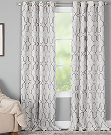"Miller Curtains Alain 50"" x 95"" Geo-Print Energy-Efficient Window Panel"