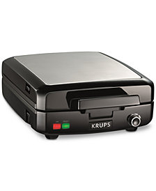 Krups GQ502D51 4-Slice Belgian Waffle Maker