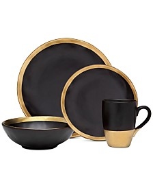 Godinger Golden Onyx 4-Pc. Place Setting