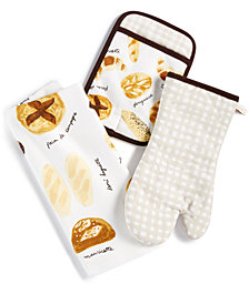 kate spade new york 3-Pc. French Bakery Kitchen Towel Set